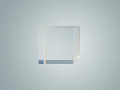 Glasscube not 3d 2d 2d looks like 3d real cube glass photoshop illustration