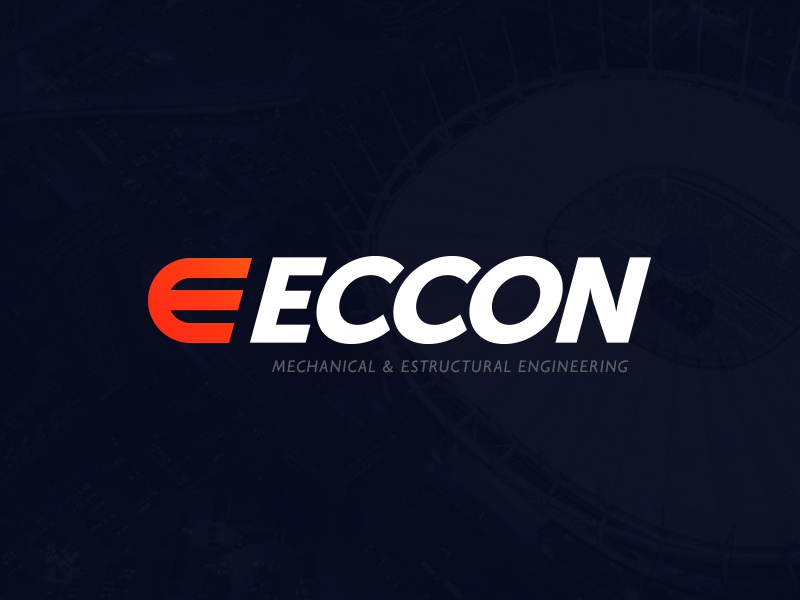 ECCON orange white red brand identity logotype logo branding