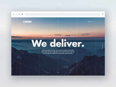 LCS sky mountains minimal layout editorial clean lcs hero ui website