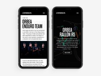 Orbea Enduro Team black design branding webdesign white ux website minimal ui