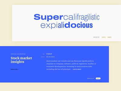 Variable fonts. Website ui minimal webdesign variable fonts typography