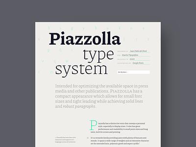 Piazzolla. Variable font specimen minisite visual design data visualization ui design type specimen type microinteractions webdesign editorial layout editorial design variable fonts minimal layout design design ui typography website
