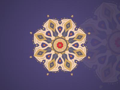 Mandala With  Arab Persian Style