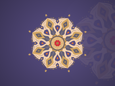 Mandala With  Arab Persian Style ancient batik design persian arabic mark flower decorations vintage classic pattern ornament mandala illustration inkscape