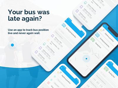 Bus Tracker App mobile design mobile app tracker app tracker sketch app uxui product design ux design