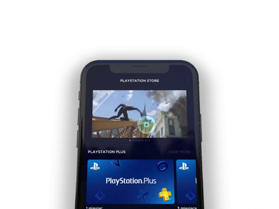 PS Store Concept 3d Animation dashboard transition animation spiderman playstation ps store marketplace gaming dark ui ui design mobile app uxui 3d animation product design