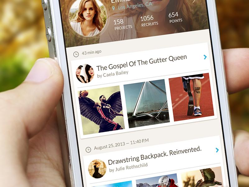 Social Network (app profile) ukraine ui user interface iphone awesome interface designer app profile mobilizr social odessa