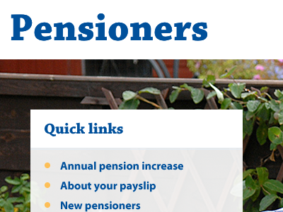 Pensioners pensioners pensions exciting day job