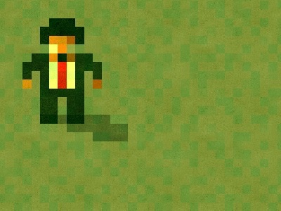 The boss sensi soccer swos sensible pixel pixelated boss suit tie red grass