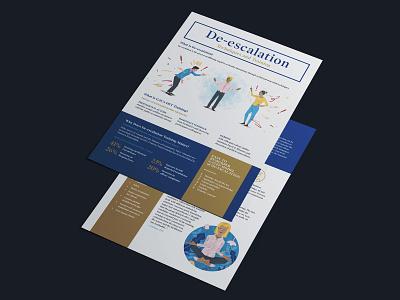De-escalation Information Sheet for Global Affairs Canada texture photoshop editorial layout design print design design illustration mixed media art