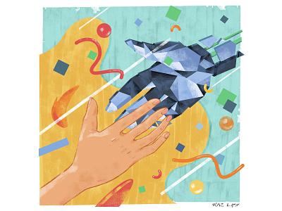 Digital Connections adobe texture editorial pastel digital photoshop design illustration mixed media art