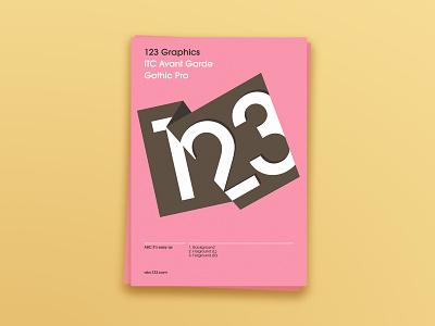 123 illustrator indesign typography graphic design layout design print design
