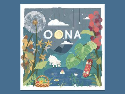 Oona baby kidslit adobe texture pastel digital photoshop design illustration mixed media art