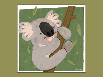 Koala Love animal art australia bushfire nsw koala texture pastel digital photoshop design illustration mixed media art