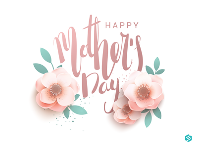 Mother's Day illustration ai simple 2d design moma mothersday