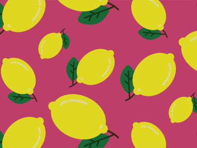 Lemon pattern fruit graphic design vector lemon 30daychallenge illustration