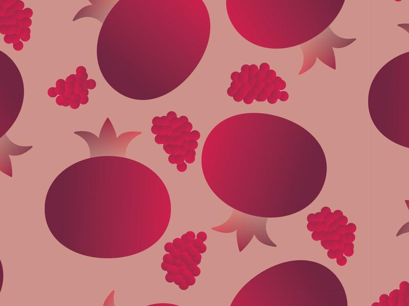 Pomegranate design pomegranate pattern fruit vector 30daychallenge illustration