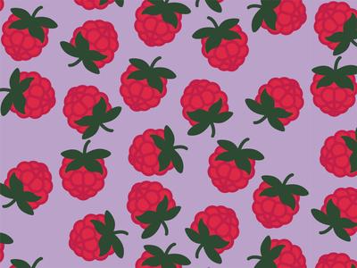 Raspberry raspberry pattern fruit 30daychallenge vector graphic design illustration