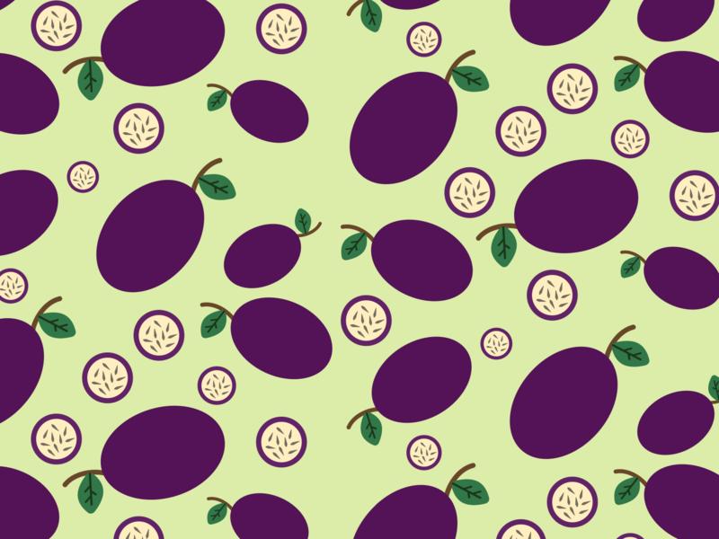 Passion fruit design pattern fruit 30daychallenge vector graphic design illustration