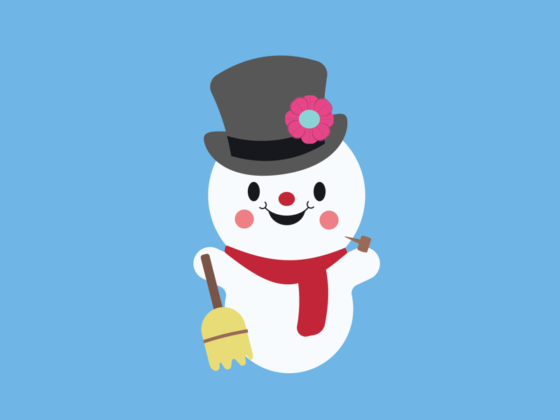 Thumpety thump thump graphic design vector illustration frosty the snowman