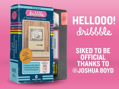 Hello Dribbble!! 1990 1980 packaging graphic  design retro vintage vhs