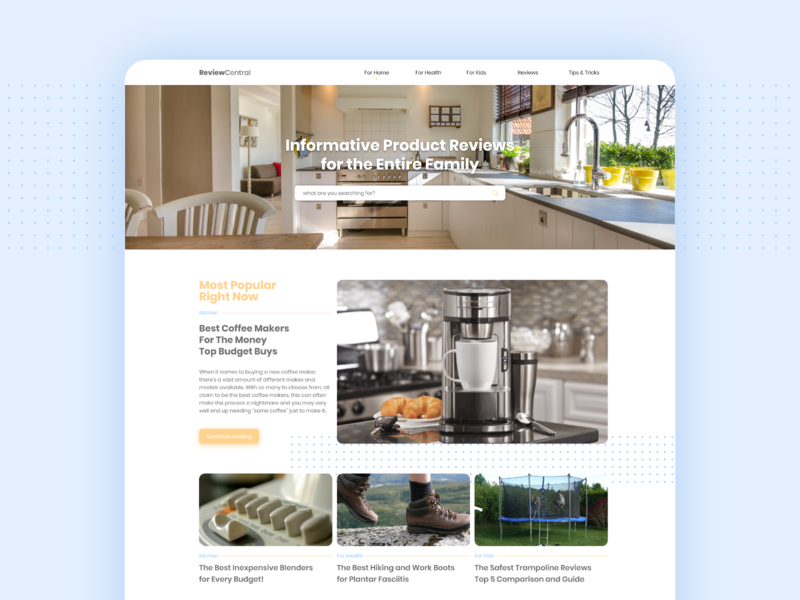 Home Reviews soft pastel color helping home author article page articles review web website design ui minimal clean