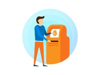 Bitcoin Atm Illustration