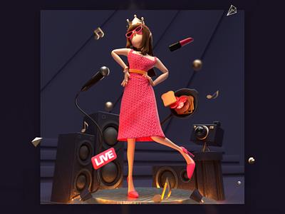 Queen's Day c4d character