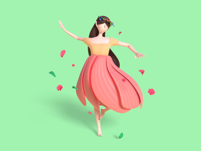 Flower Fairy spring c4d character