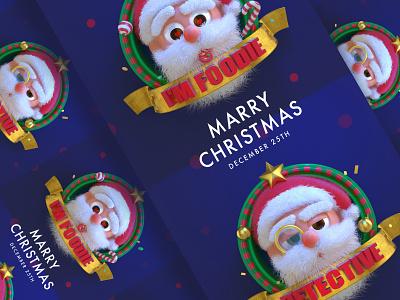 Santa Claus illustration c4d character