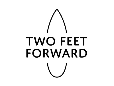 Two Feet Forward branding (v2) branding identity logo surfing