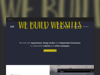 Homepage web design portfolio homepage