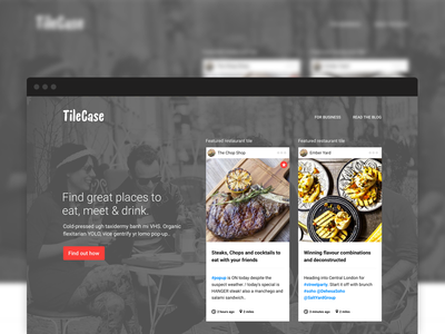 Tilecase homepage web design homepage