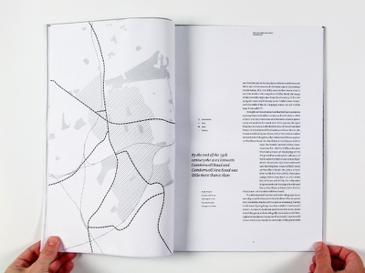 Dummy Spread map typography book design print