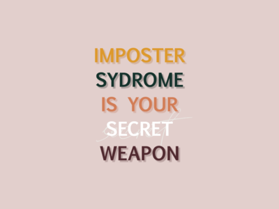 Quote design for imposter syndrome