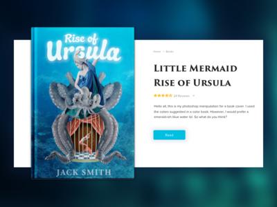 Rise Of Ursula book card card book tale fairy cage octopus ocean mermaid little ursula