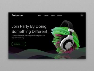 Party service header interstella headphone hero header service party