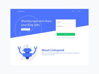 Linkspeed.io robot website link shorten