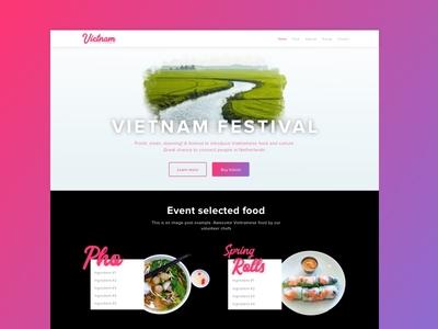 Vietnam little corner festival landing page explore festival event springrolls pho landing food vietnam