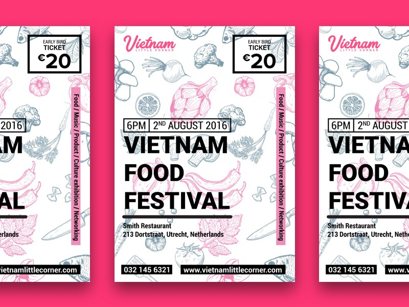 Vietnam food festival poster