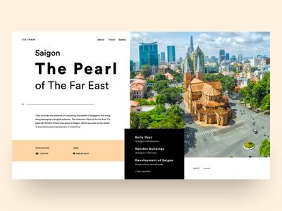 UI practice - Saigon landing page page landing blog travel vietnam saigon practice
