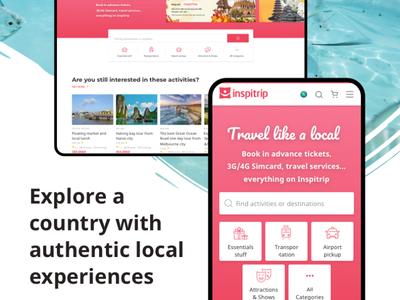 Inspitrip - Travel services booking platform booking responsive platform website travel vietnam