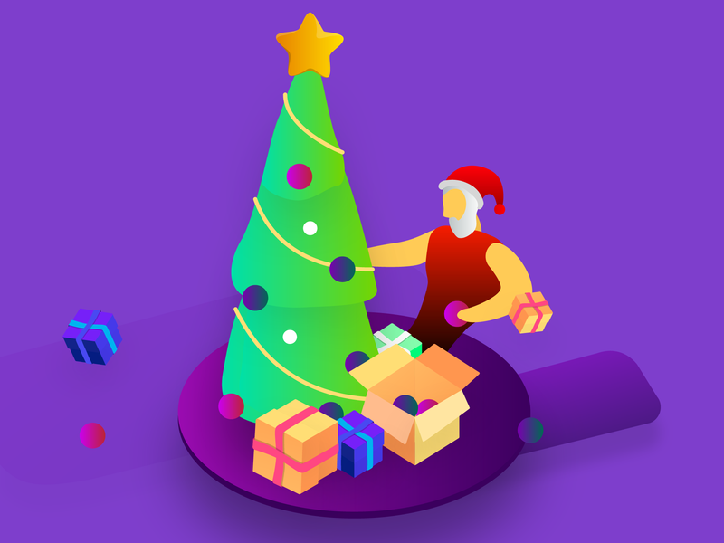 Christmas web vector minimalism illustrator illustration design art adobe