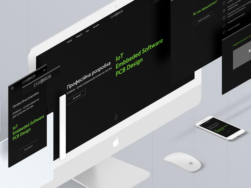 Embbros - web design ui  ux site web minimalism adobe design