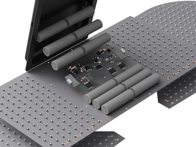 Blizzard Led - 3D model led snowboard board visualisation render product design modeling hobby fusion360 design cinema 4d art 3d
