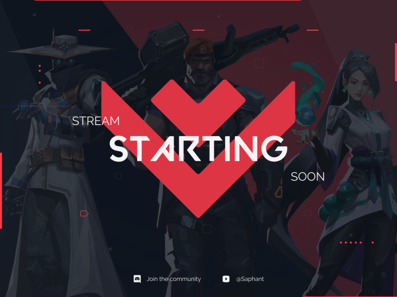 "A ""Stream Starting Soon™"" -Screen"