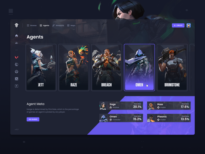 Tournament & Esports Platform - Valorant Agents ux interface userinterface experience user ui games game figma esports competitive valorant brackets bracket tournaments tournament