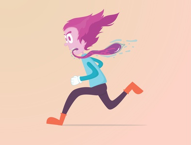 Runing from deadlines illustrator character illustration illustration characterdesign character