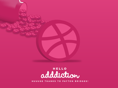Hello to My New Adddiction free throw basketball thanks dribbble concept debut