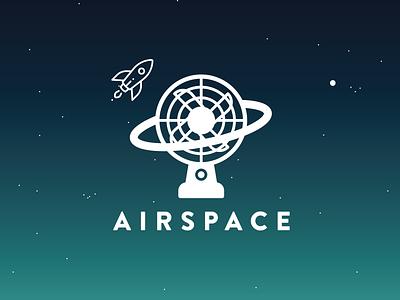Airspace Logo nasa airspace fan rocket space air